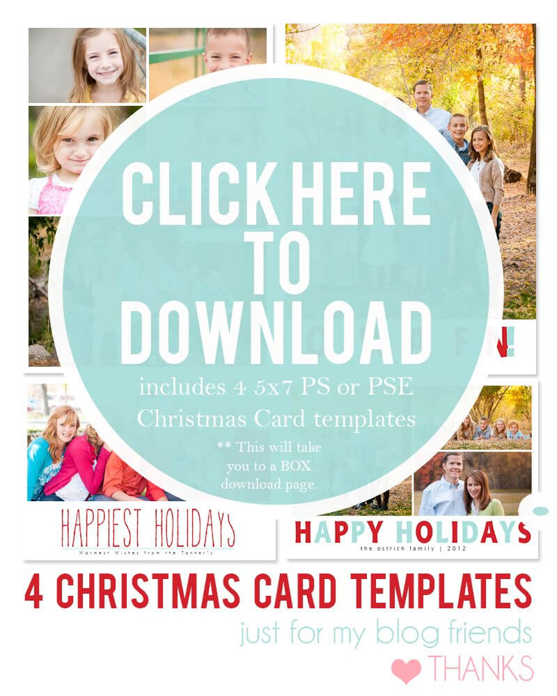 Downloadable Christmas Card Templates For Photos |  Free Pertaining To Free Christmas Card Templates For Photographers