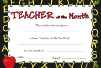 Downloadable Special Awards throughout Teacher Of The Month Certificate Template