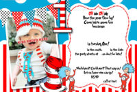 Dr.seuss 1St Birthday Invitation Template- Update!   Party with regard to Dr Seuss Birthday Card Template