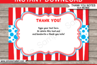 Dr Seuss Party Thank You Cards Template in Dr Seuss Birthday Card Template