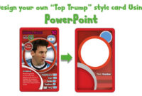 Draw A Top Trump Card Using Powerpoint – Youtube regarding Top Trump Card Template