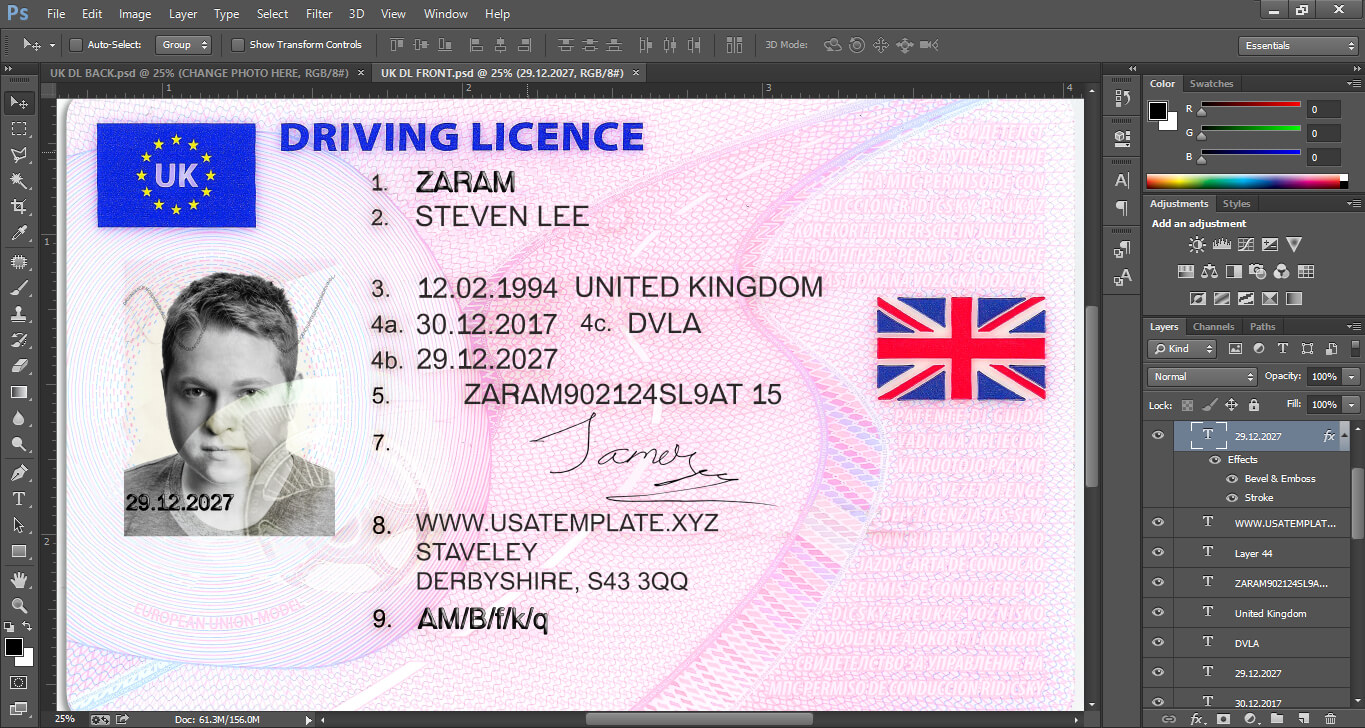 Drivers License Template Psd Free Clipart Images Gallery For intended for Blank Drivers License Template