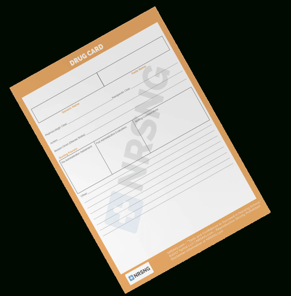 Drug Card Template | Nrsng with Med Card Template