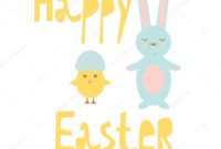 Easter Chick Templates | Happy Easter Greeting Card Template for Easter Chick Card Template