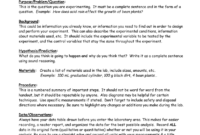 Eastview High School Science Department Lab Report Format for Science Lab Report Template