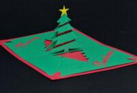 Easy Christmas Tree Pop Up Card Template with Pop Up Tree Card Template