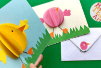 Easy Pop Up Chick Card – 3D Easter Card Diy – Cute & Easy regarding Easter Chick Card Template