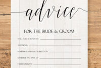 Editable Advice Cards For The Bride-To-Be, Custom Advice pertaining to Marriage Advice Cards Templates