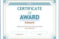 Editable Award Certificate Template In Word #1476 within Blank Award Certificate Templates Word