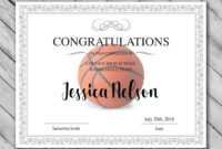 Editable Basketball Certificate Template – Printable regarding Basketball Certificate Template
