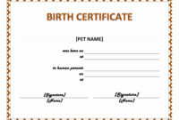 Editable Birth Certificate Template – Atlantaauctionco throughout Editable Birth Certificate Template