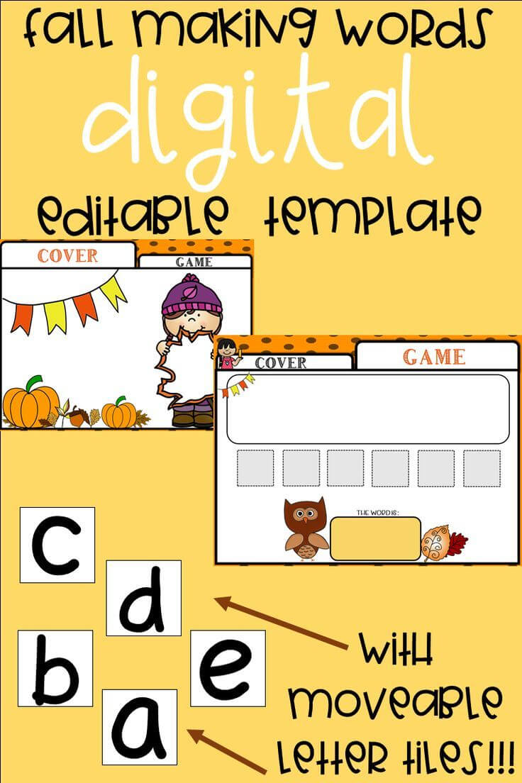Editable Making Words Template | Fall Theme | Making Words Throughout Making Words Template