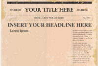 Editable Old Newspaper Template For Word – Docap intended for Old Newspaper Template Word Free