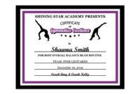 Editable Pdf Sports Team Gymnastics Certificate Award Template In 10 Colors  Letter Size Instant Download Pdf & Blank Jpg Sc-002-Gymnastics with regard to Gymnastics Certificate Template