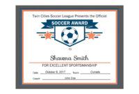 Editable Pdf Sports Team Soccer Certificate Award Template with Soccer Certificate Template