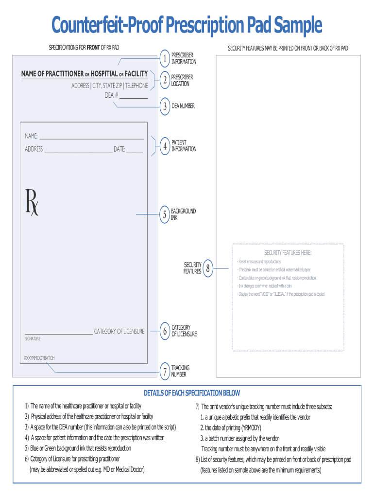 Editable Prescription Template - Fill Online, Printable Within Blank Prescription Form Template