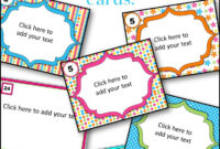 Editable Printables Archives – Bkb Resources pertaining to Task Cards Template