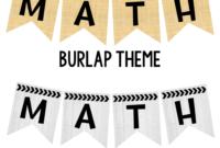 Editable Subject Banners – Burlap Theme | Classroom regarding Classroom Banner Template