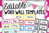 Editable Word Wall Templates | Beginning Of The Year – Prep Intended For Blank Word Wall Template Free