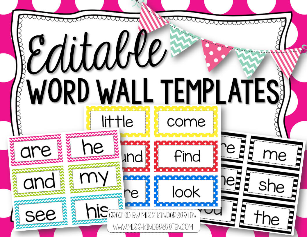 Editable Word Wall Templates | Beginning Of The Year - Prep intended for Blank Word Wall Template Free