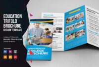 Education School Trifold Brochure V2 intended for Tri Fold School Brochure Template