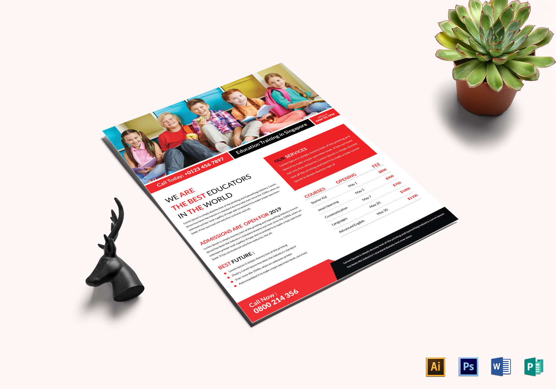 Education & Training Flyer Template For Training Brochure Template