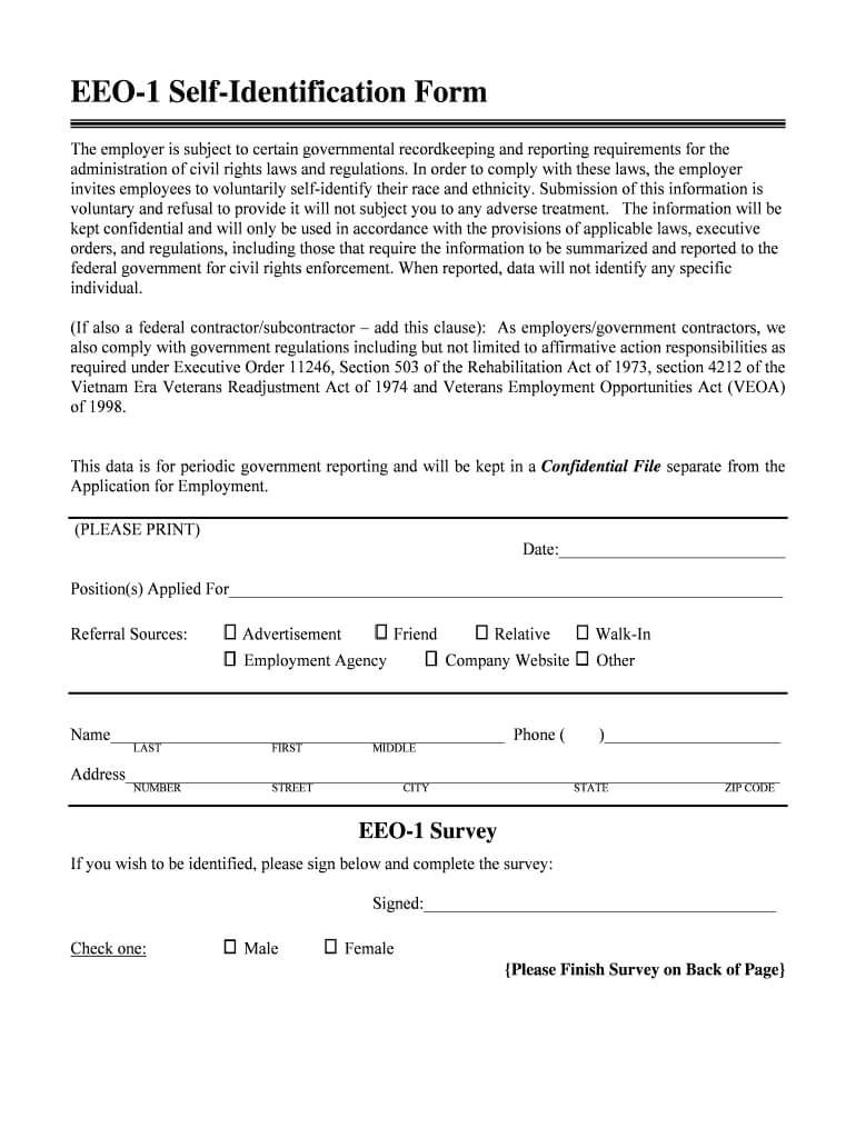 Eeo1 Form Editiable - Fill Online, Printable, Fillable in Eeo 1 Report Template