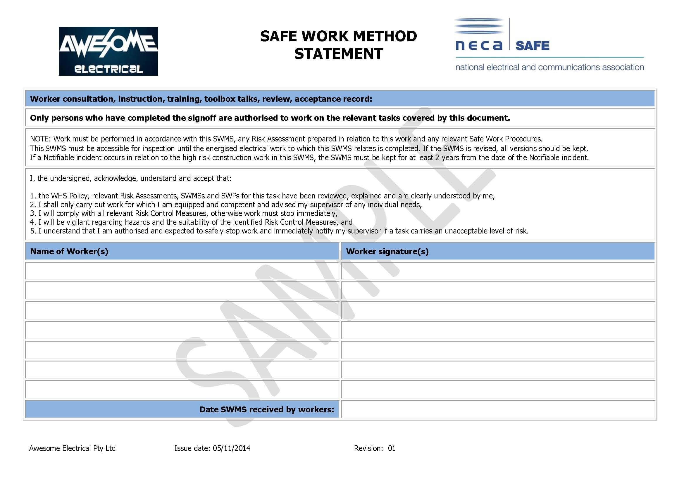 Electrical Isolation Certificate Template – Bizoptimizer Throughout Electrical Isolation Certificate Template