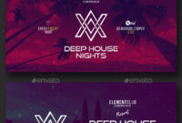 Electronic Music Party – Facebook Post Banner Templates Psd with Facebook Banner Template Psd