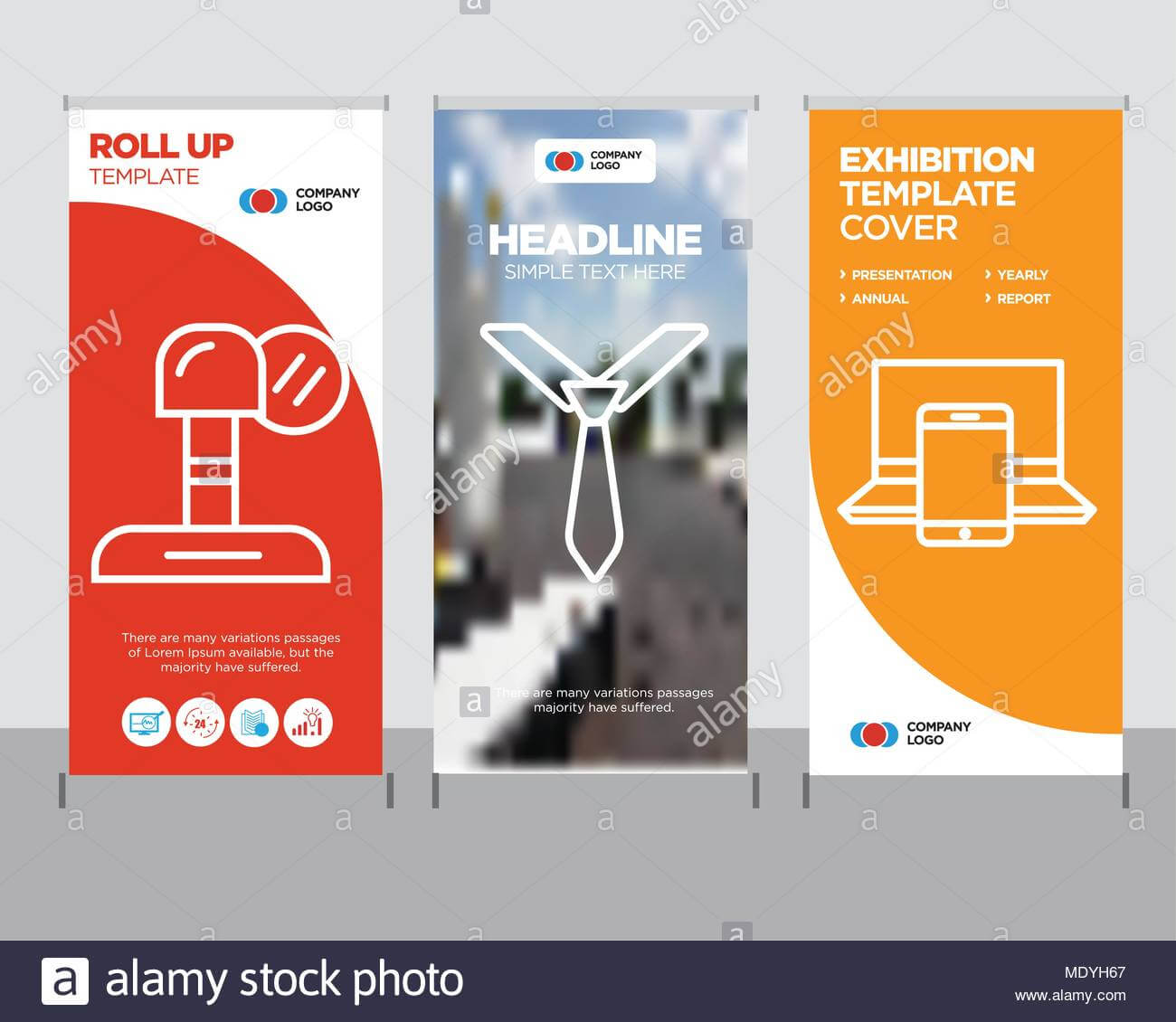 Electronics Modern Business Roll Up Banner Design Template intended for Tie Banner Template