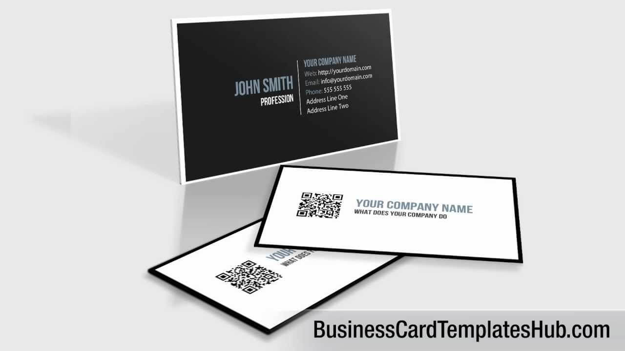 Elegant Black And White Qr Code Business Card Template With Regard To Qr Code Business Card Template