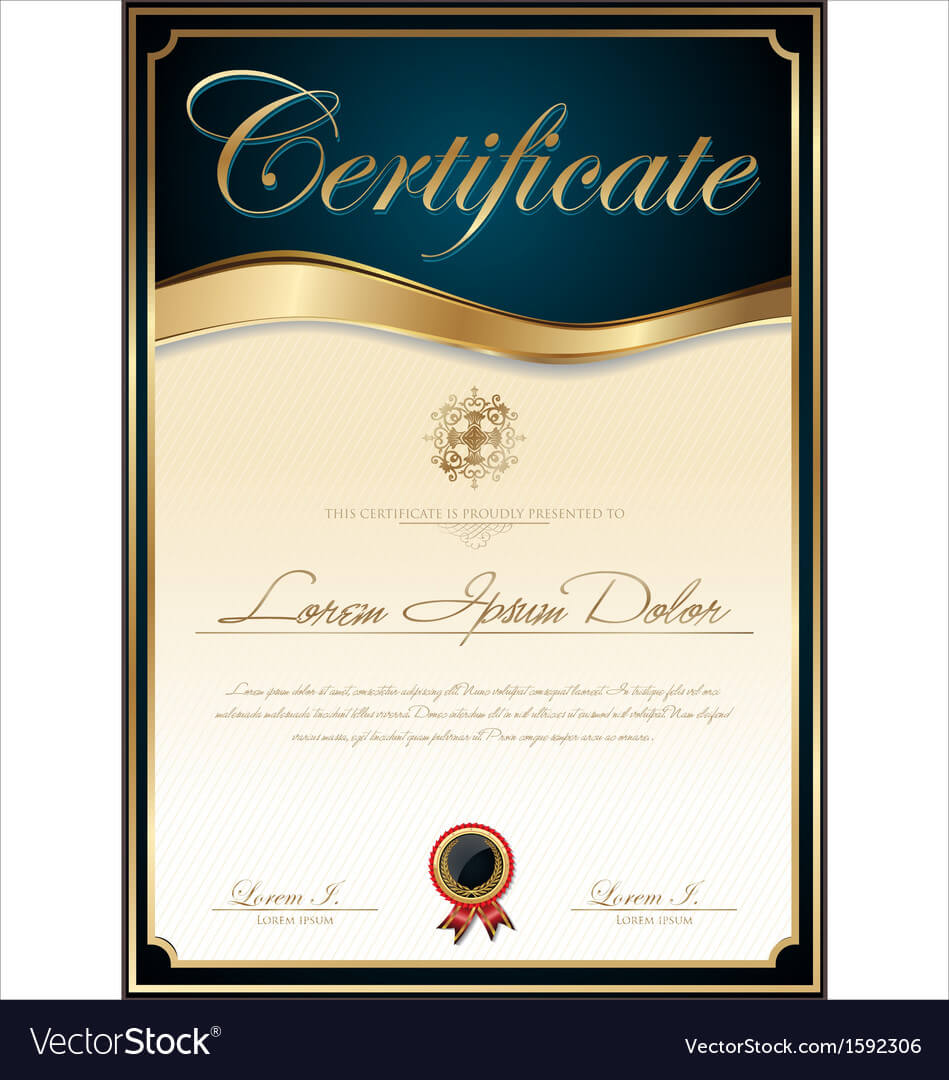 Elegant Blue Certificate Template With Regard To High Resolution Certificate Template