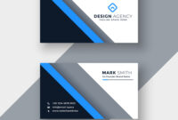 Elegant Blue Professional Business Card Template in Professional Name Card Template