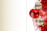 Elegant Christmas Card Template throughout Happy Holidays Card Template