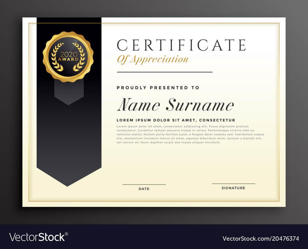 Elegant Diploma Award Certificate Template Design In Design A Certificate Template