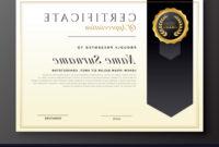 Elegant Diploma Award Certificate Template Design Vector with regard to Award Certificate Design Template