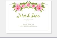 Elegant Flowers Frame Wedding Invitation Card for Church Wedding Invitation Card Template