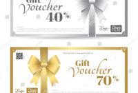 Elegant Gift Card Gift Voucher Template Stock Vector with Elegant Gift Certificate Template