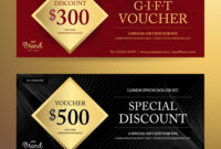 Elegant Gift Voucher Or Discount Card Template intended for Elegant Gift Certificate Template