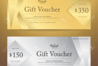 Elegant Gift Voucher Or Gift Card Or Coupon Template For Discount.. inside Elegant Gift Certificate Template
