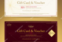 Elegant Gift Voucher Or Gift Card Or Coupon Template For with Elegant Gift Certificate Template