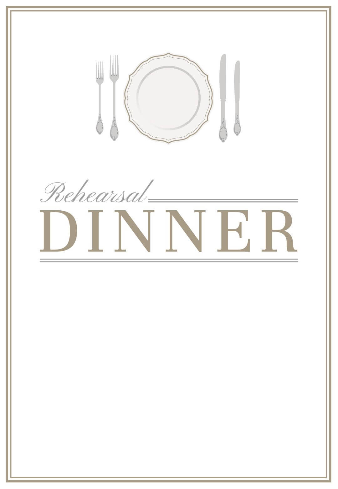 Elegant Setting - Free Printable Rehearsal Dinner Party With Regard To Free Dinner Invitation Templates For Word