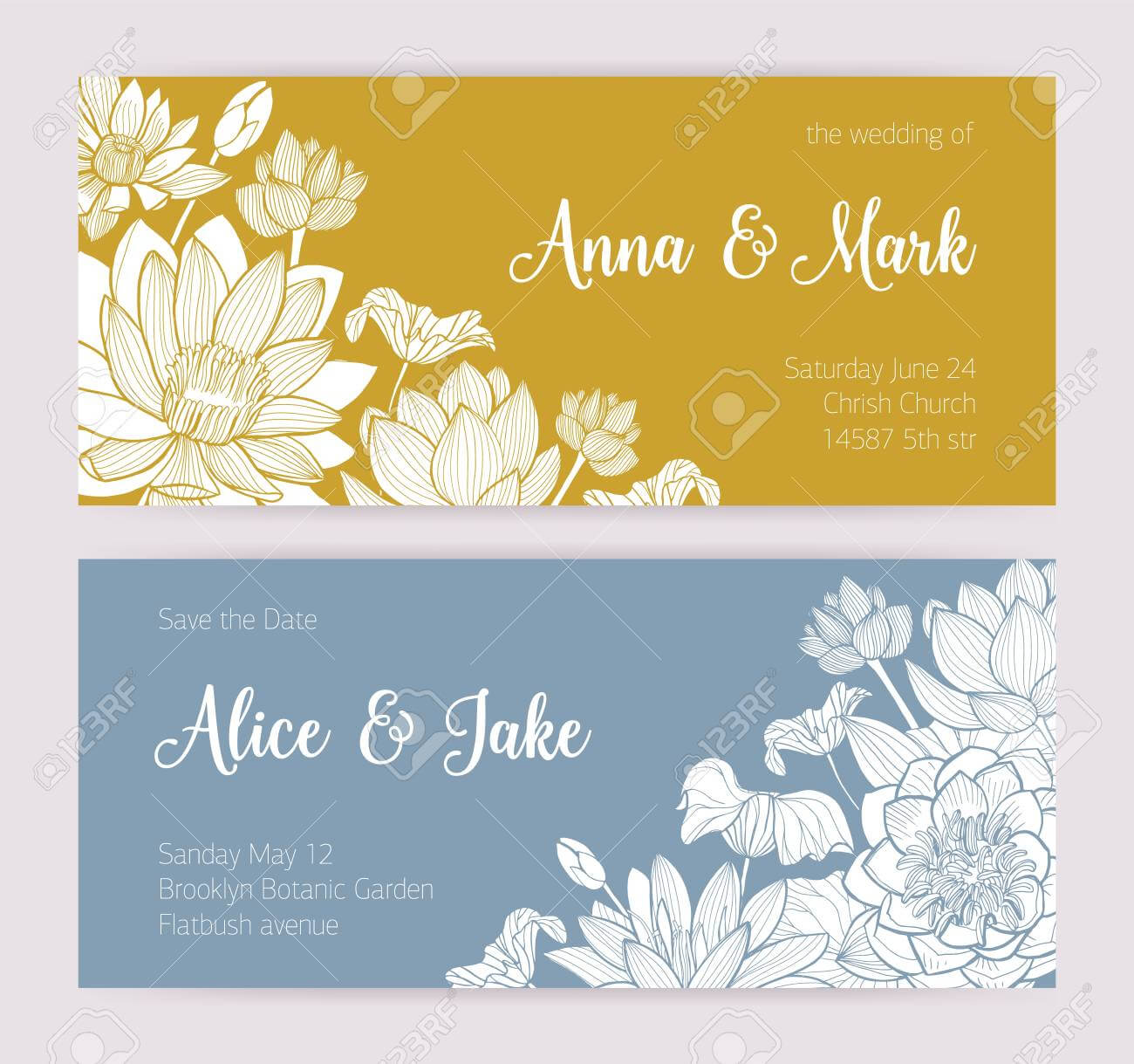 Elegant Wedding Invitation Or Save The Date Card Templates With.. in Save The Date Cards Templates