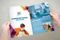 Elementary School Brochure Template 3Xa4 Trifold with Tri Fold School Brochure Template