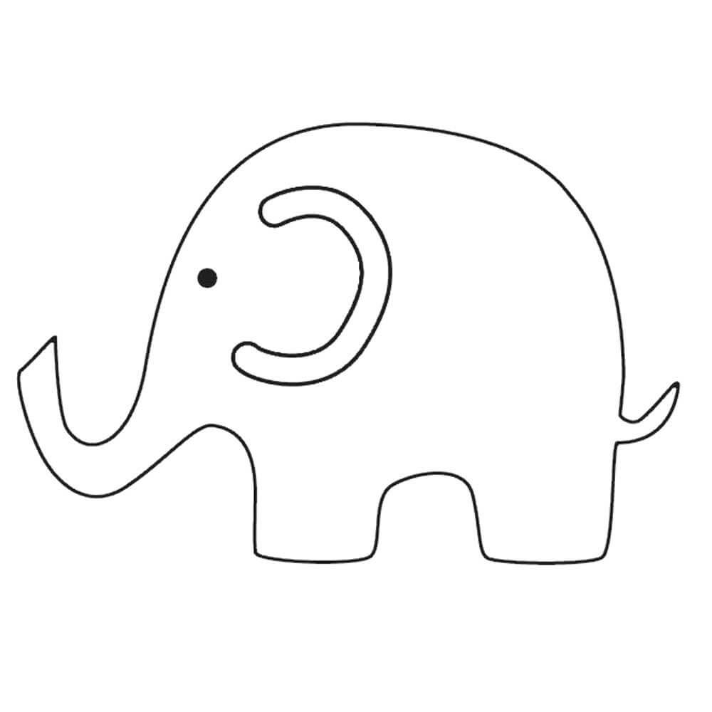 Elephant Template Free Clipart Images Gallery For Free With Blank Elephant Template