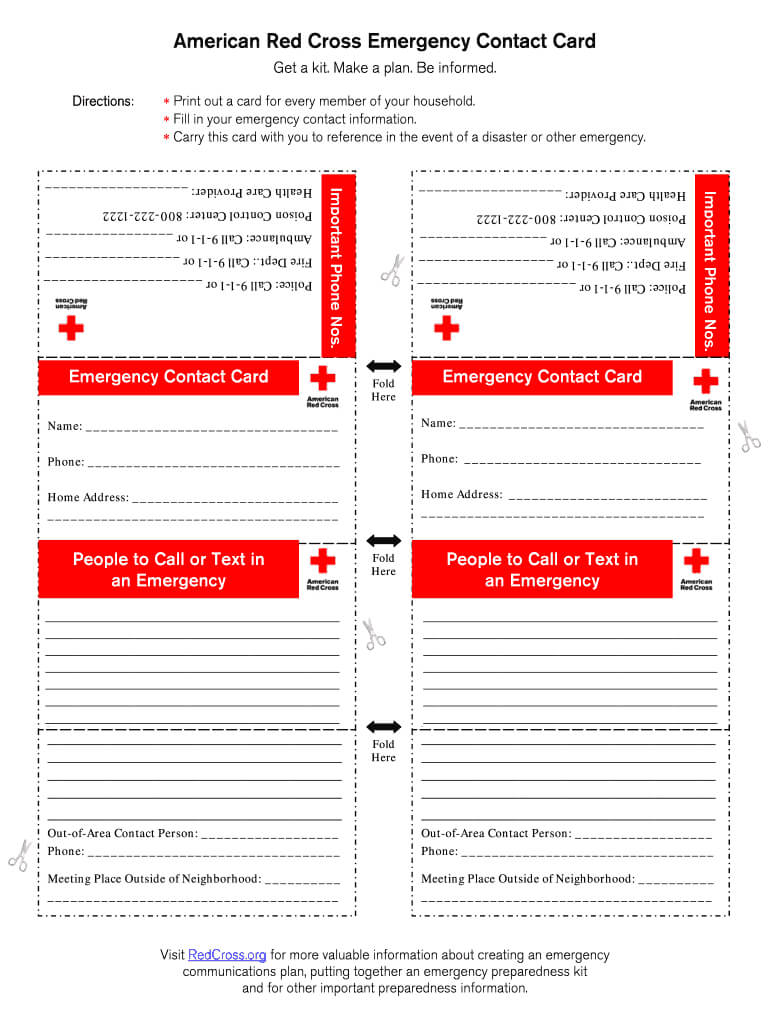 Emergency Contact Card Fillable - Fill Online, Printable regarding Emergency Contact Card Template