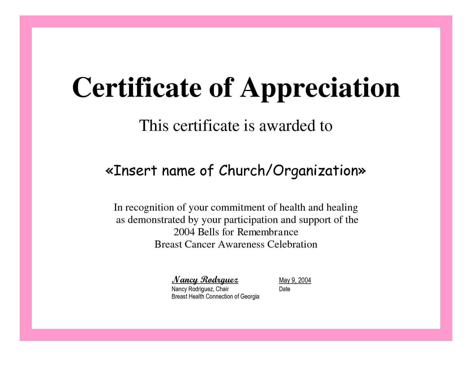 Employee Appreciation Certificate Template Free Recognition Pertaining To Employee Of The Year Certificate Template Free