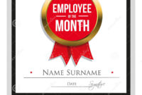 Employee Award Certificate Template Free Templates Design inside Manager Of The Month Certificate Template