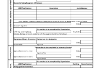 Employee Equipment Check Out Form – Major.magdalene-Project intended for Check Out Report Template