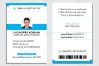 Employee Id Card intended for Teacher Id Card Template
